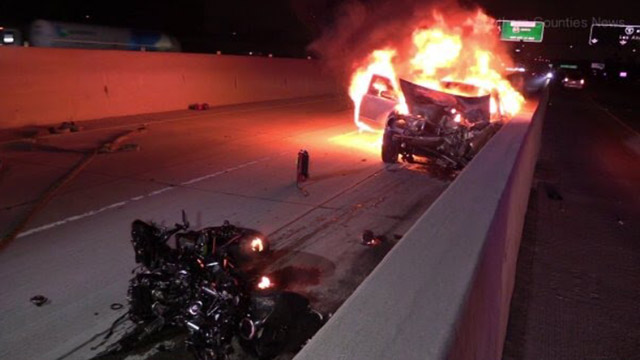 Motorcyclist Killed in Head-On Wrong-Way Driver on 5 Fwy in Santa Ana